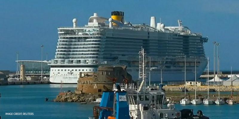 Coronavirus ship in the Mediterranean