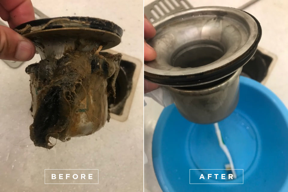Yacht drain cleaning