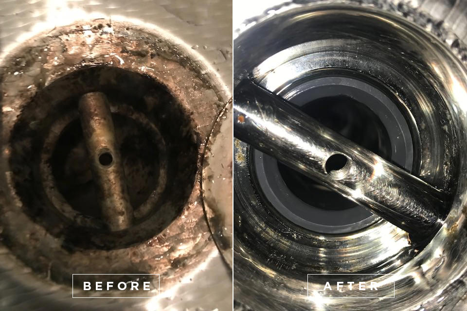 Yacht drain cleaning 4