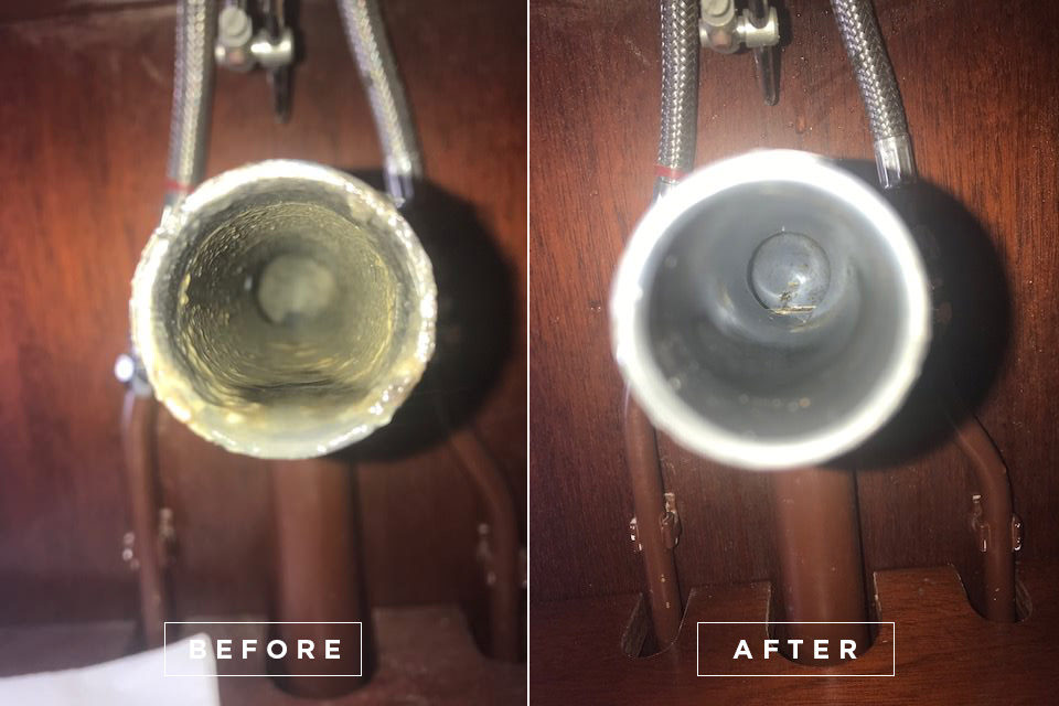 Yacht drain cleaning 7